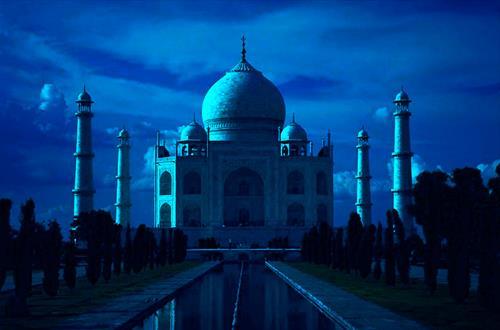 Тадж-Махал - ночной обзор